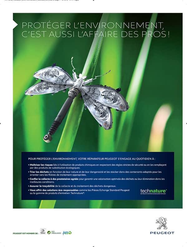 Concept publicitaire Peugeot environnement