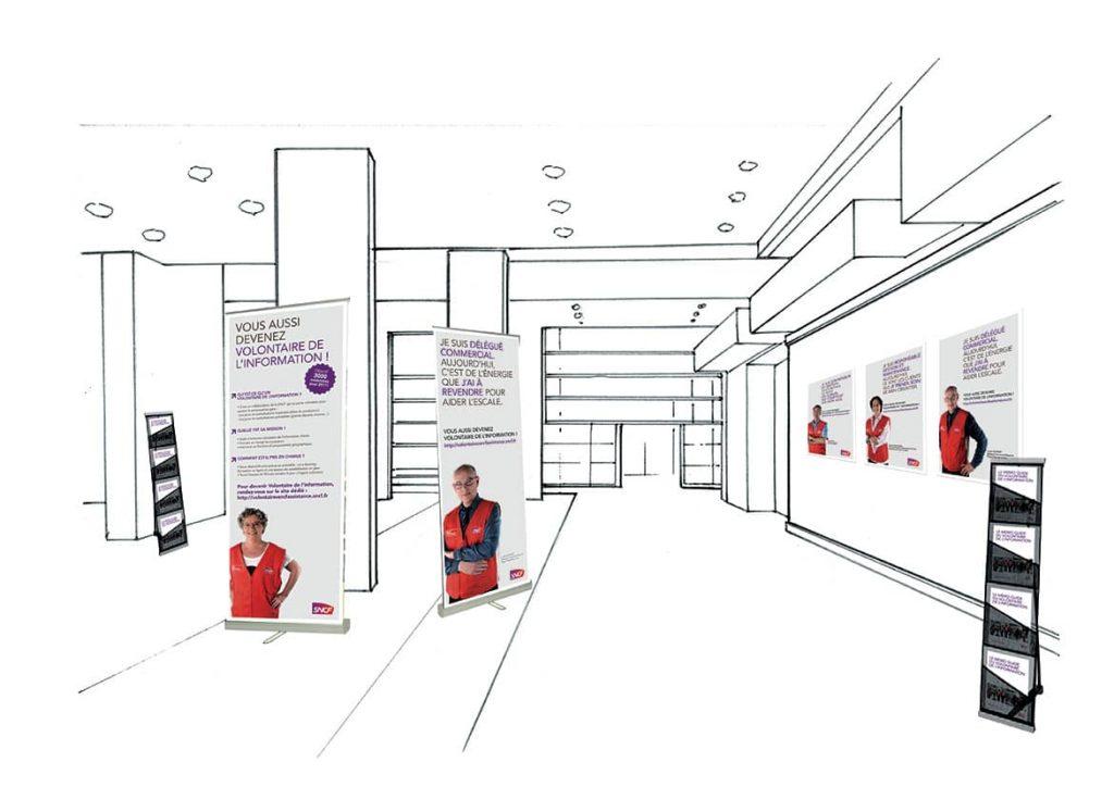 Campagne sensibilisation SNCF by AKATOA
