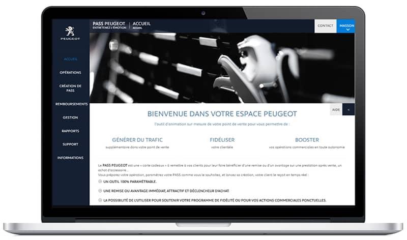 Smartecard animation réseau Peugeot