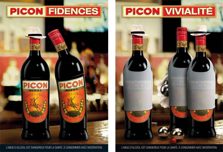 Création publicitaire pour Picon