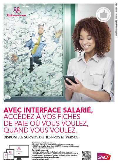 affiche SNCF interface salarié b