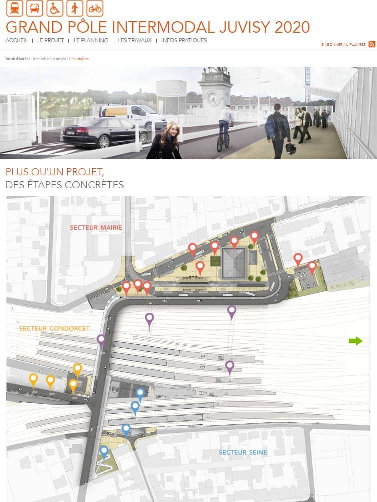Création du site Internet Grand Pôle Intermodal Juvisy
