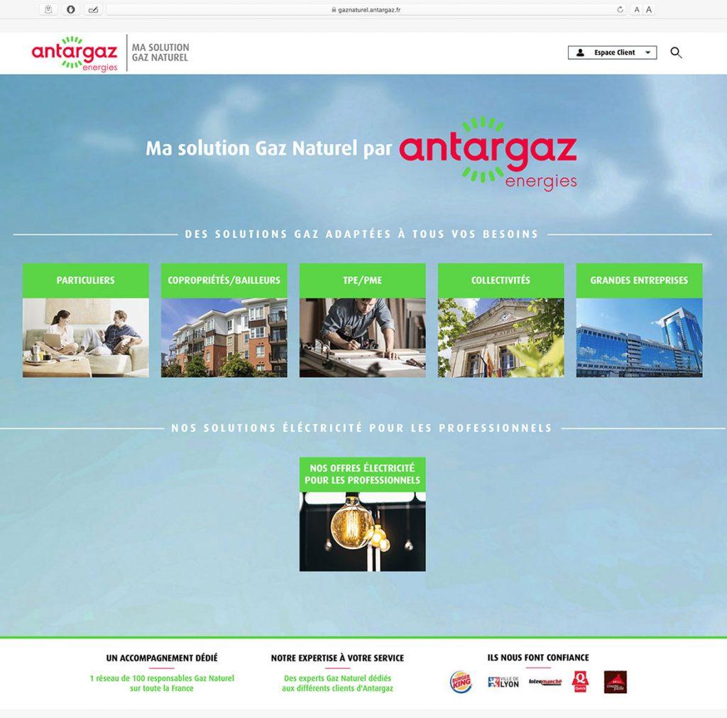 Site gaz naturel ANTARGAZ by AKATOA